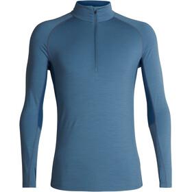 Icebreaker M's 200 Zone LS Half Zip Shirt Granite Blue/Prussian Blue
